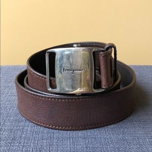 Salvatore Ferragamo brown leather belt
